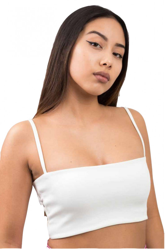 BASIC WHITE CROP TOP WITH BRACES